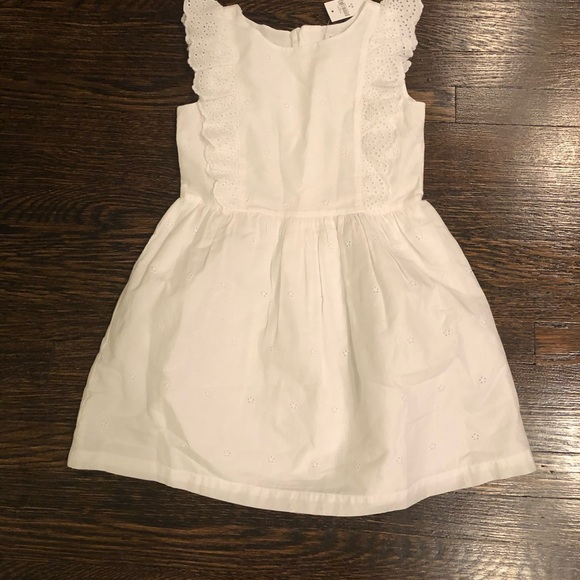Girls Gap NWT White Dress Sz S 6-7